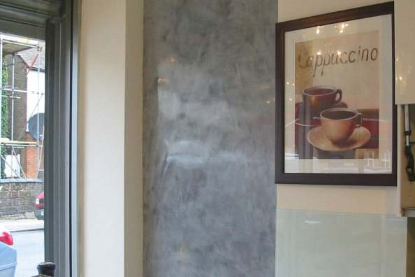 Marble effect plastering